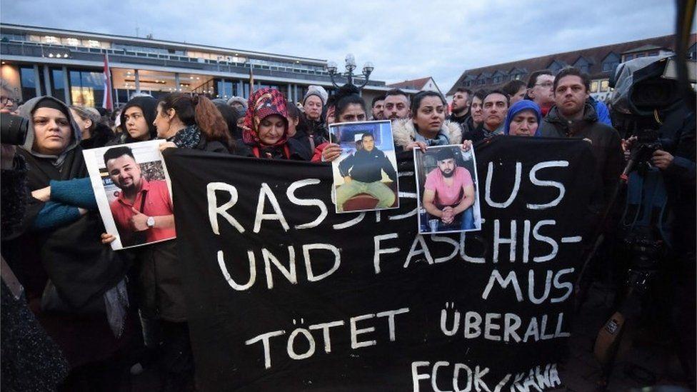 vigil in Hanau