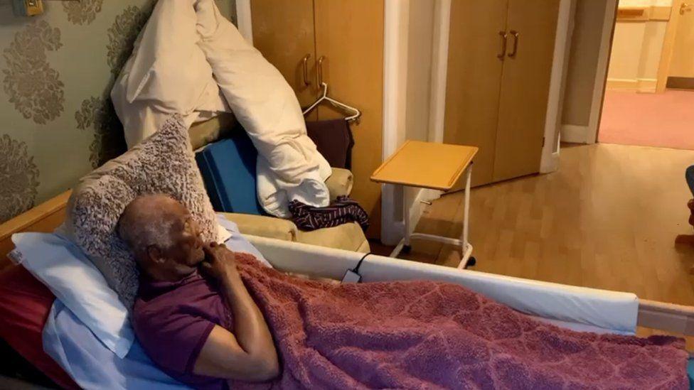 Aldrick Adamson in nursing home bed