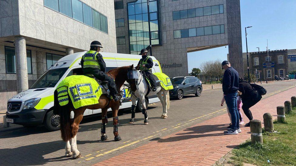Police in Cardiff Bay