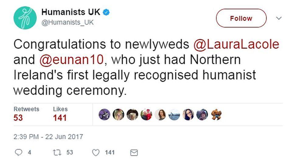 Humanists UK tweet