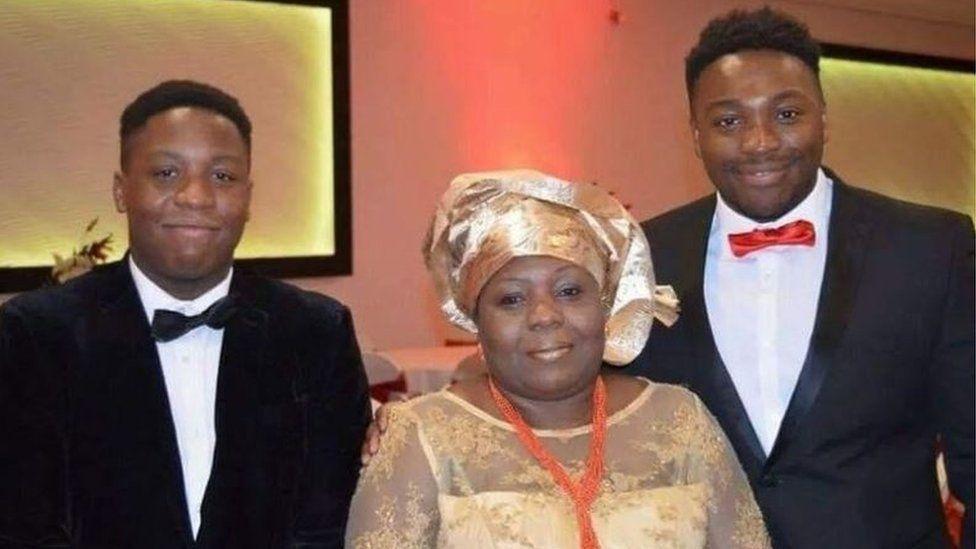 Carol Jamabo and sons
