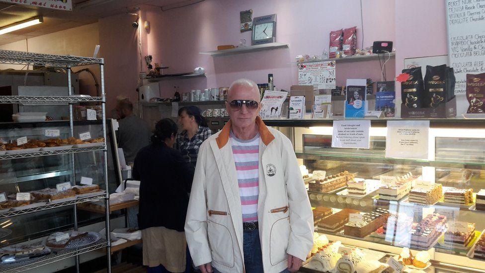 Ovidiu Sarpe in his pastry shop in North London