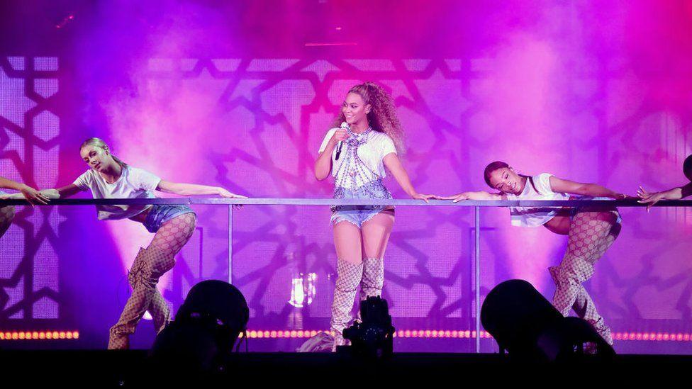 Beyonce at the OTR II tour