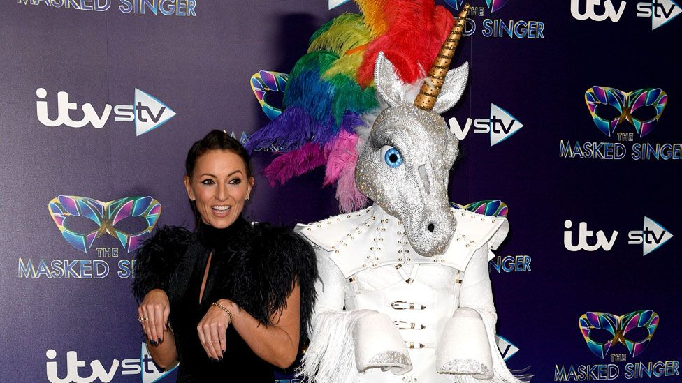 Davina McCall with 'Unicorn'