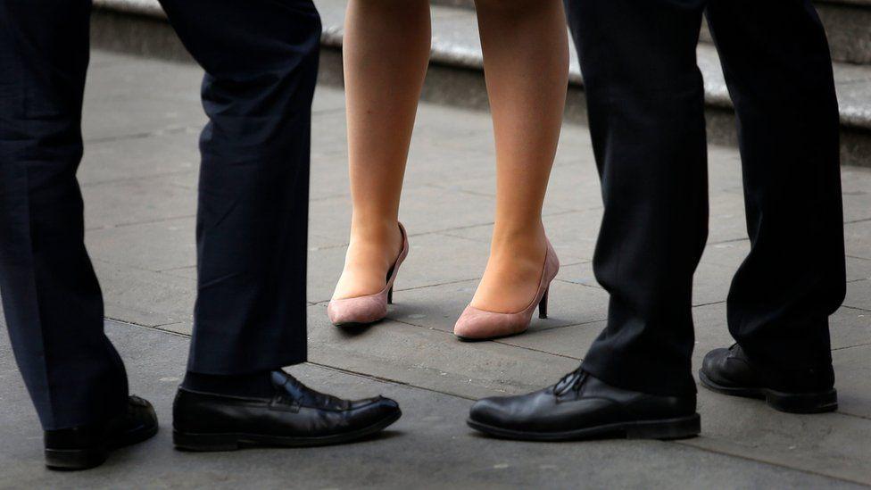 Men and women's legs