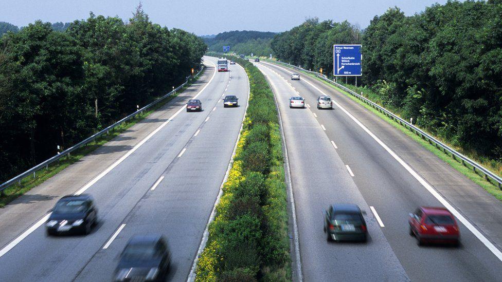 Autobahn in Rhineland, 2002 file pic