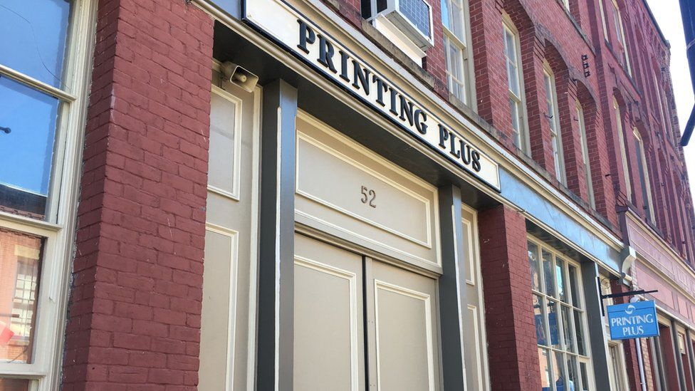 Richard Oland was found bludgeoned to death in his office, located above the Printing Plus.