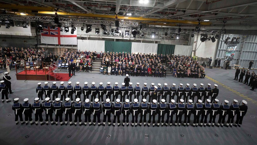 Commissioning Ceremony of HMS Queen Elizabeth, in Portsmouth on 7 December 2017