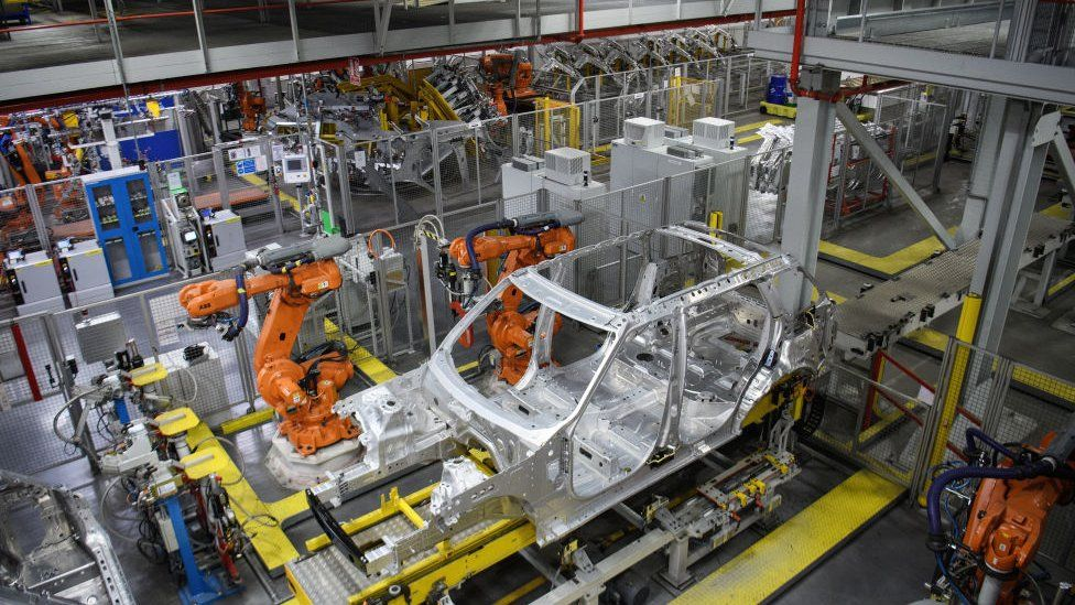 cars are built by robots