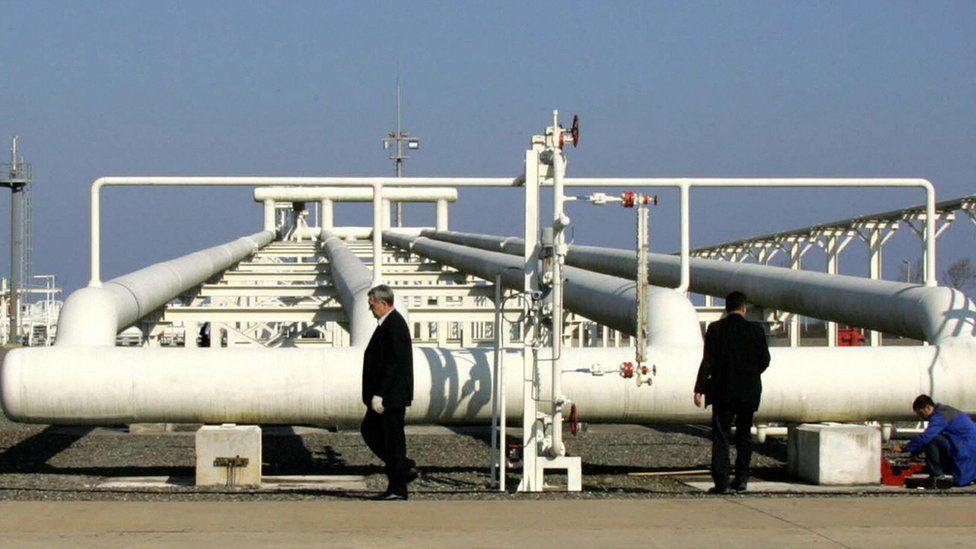 Blue Stream gas pipeline in Samsun, Turkey - 16 Nov 05