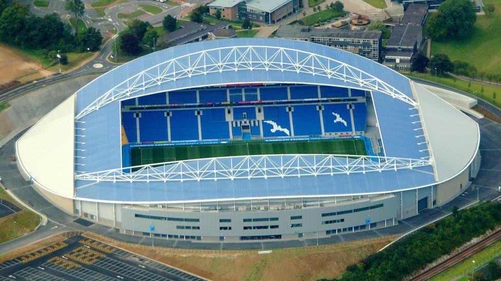 Arrests at the Amex Stadium in Brighton