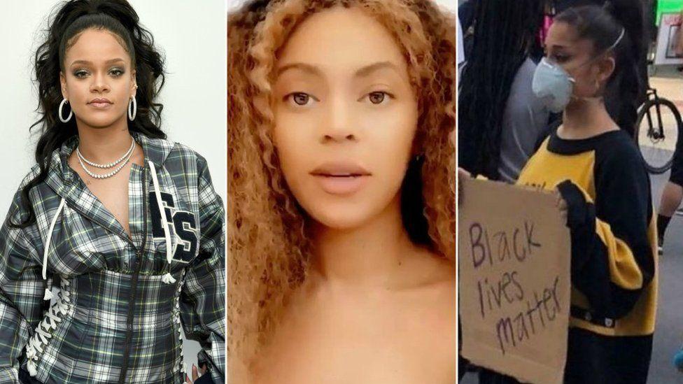 Rihanna, Beyoncé and Ariana Grande