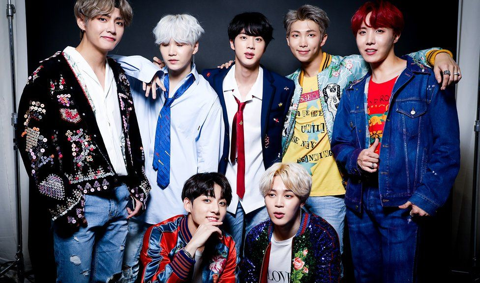 BTS poses for a portrait during the 2017 American Music Awards at Microsoft Theatre