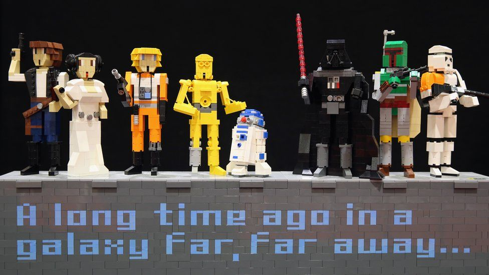 A Starwars themed Lego display sits on a stand on the opening day of BRICK 2014 at the Excel Centre on 27 November 2014 in London