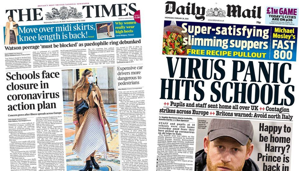 The Times and the Daily Mail