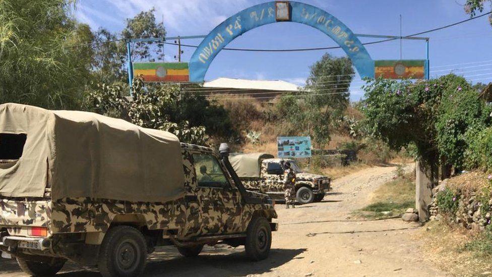Army vehicles in Tigray, Ethiopia - November 2020