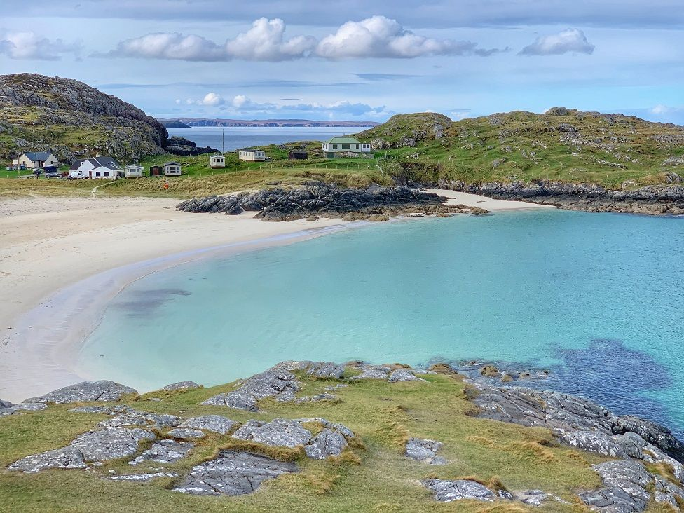 Alex Grant had Achmelvich beach all to itself