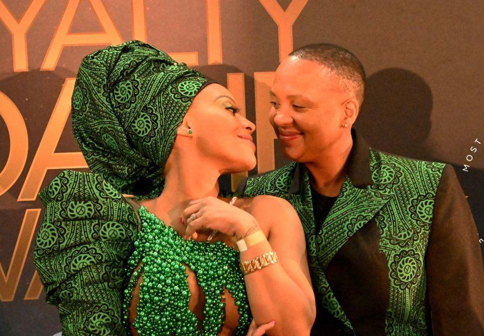South African couple Letoya Makhene and Lebo Keswa.