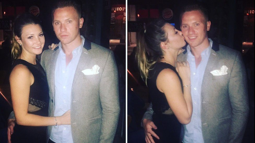 Corrie Mckeague with his girlfriend April Oliver