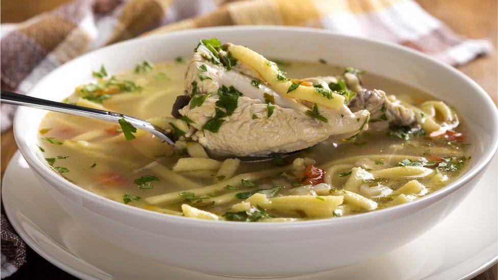 Тарелка с куриным супом