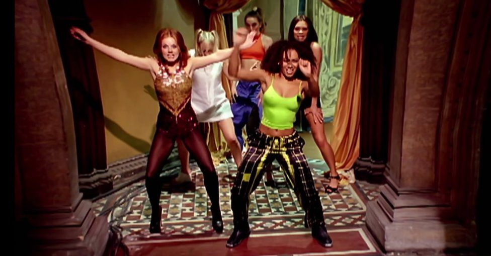 Still from Wannabe by the Spice Girls