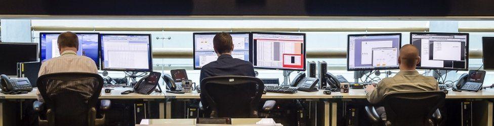 Workers inside GCHQ