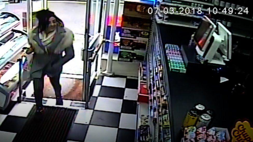 CCTV footage of Georgina Gharsallah