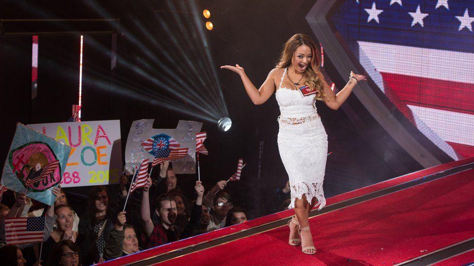 Glamour model Tila Tequila entered the UK vs US themed 2015 edition.
