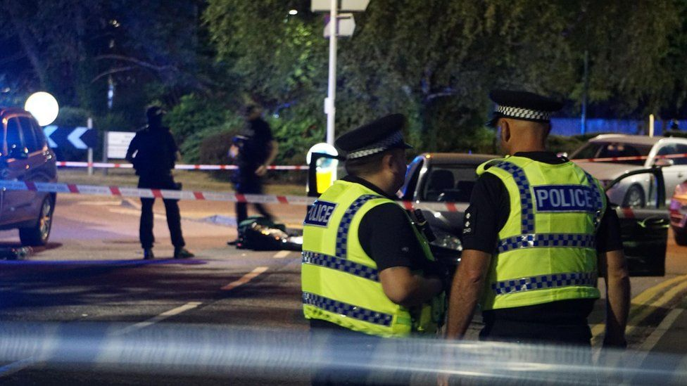 Scene of police shooting in Bournemouth