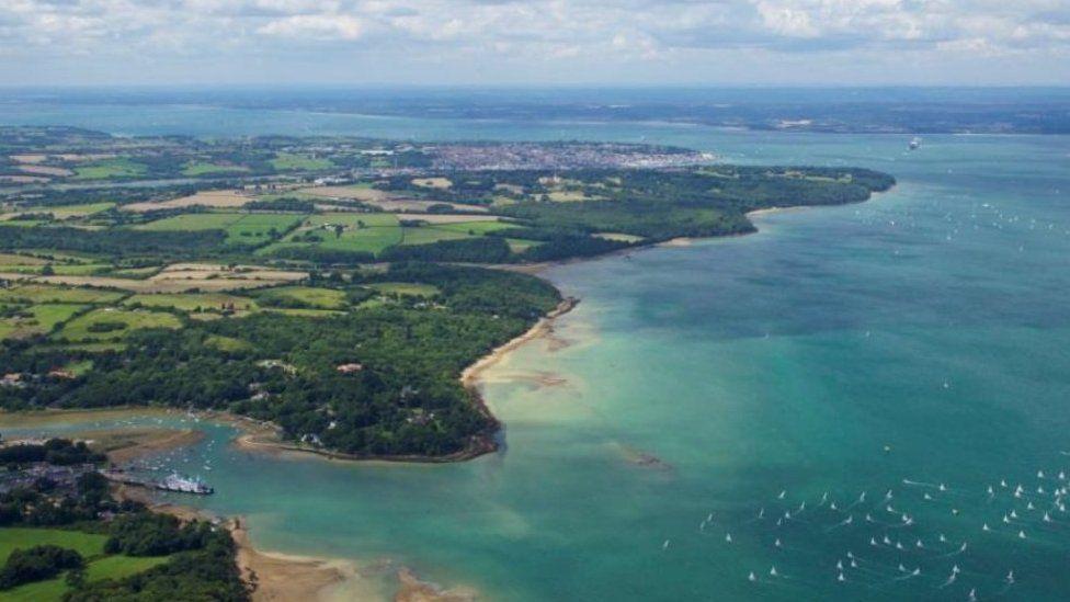 The Solent and Hampshire coastline