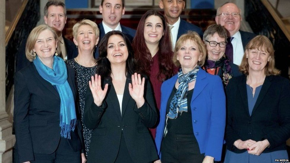 Heidi Allen and other Conservative and Labour defectors in February