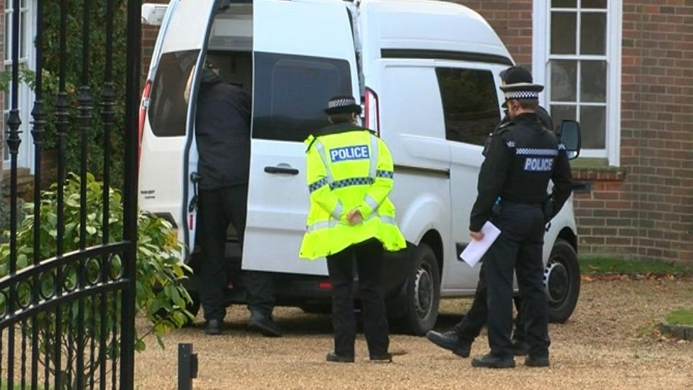 Police at scene of death in Petersfield