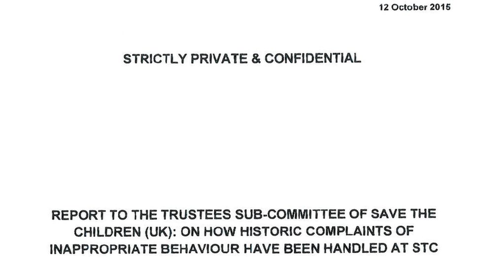 Report to the Trustees
