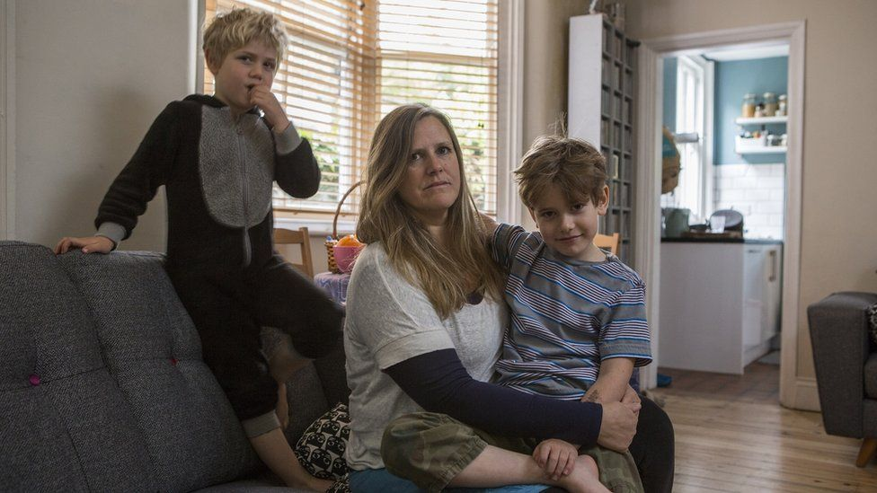 Tracy Strassburg and her sons