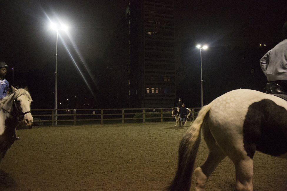 Horse riding at night