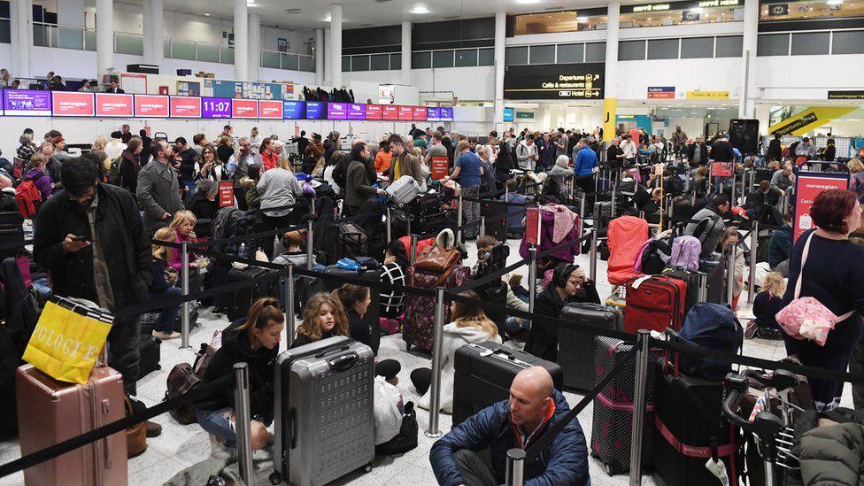 Waiting passengers