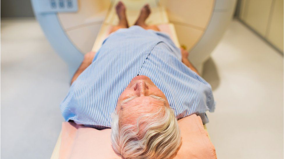 Man having a scan