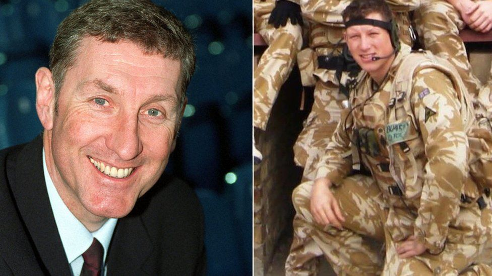 Terry Butcher and son Army Capt Christopher Butcher