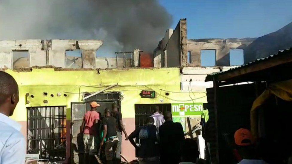 Nightclub on fire in Kisumu, Kenya