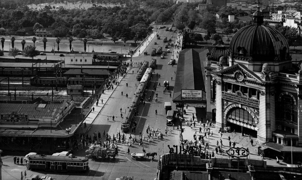 Так выглядел Мельбурн в 1955 году