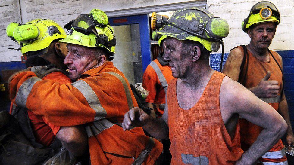 Kellingley mine workers