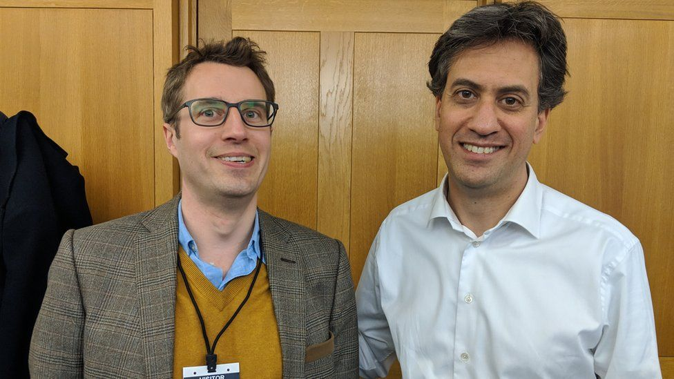 James Tilley and Ed Miliband