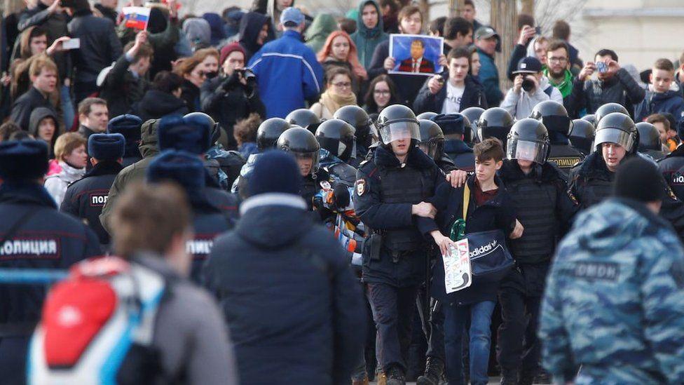 Протесты в Москве в марте 2017 года