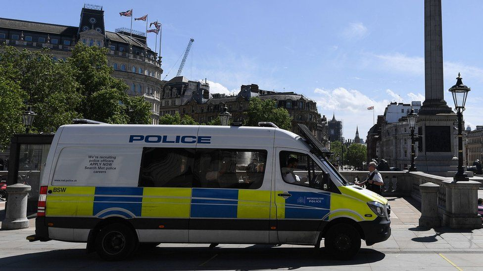 Police in Trafalgar Square
