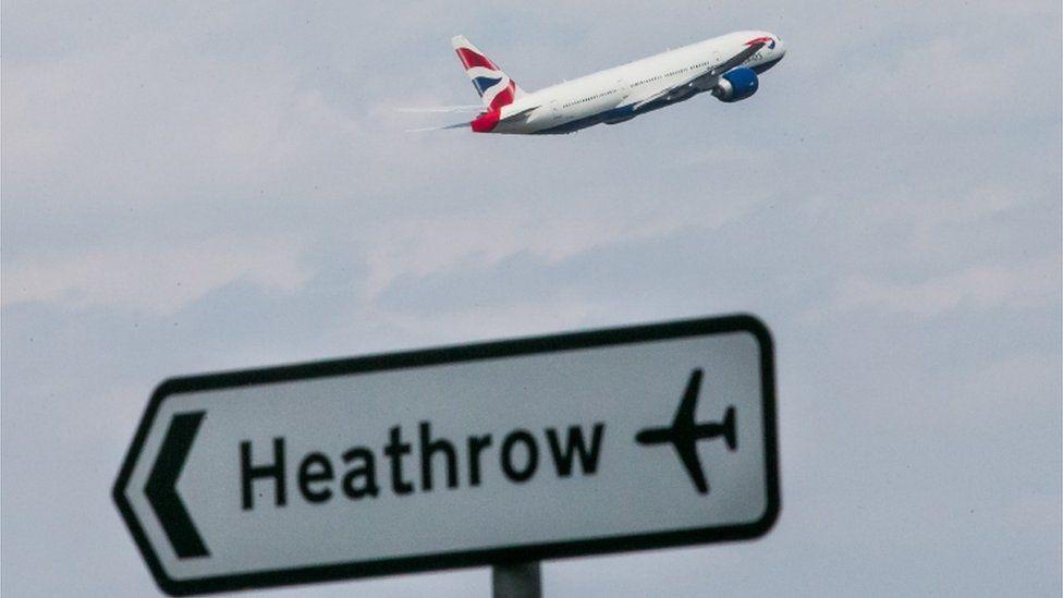 British Airways plane taking off from Heathrow Airport
