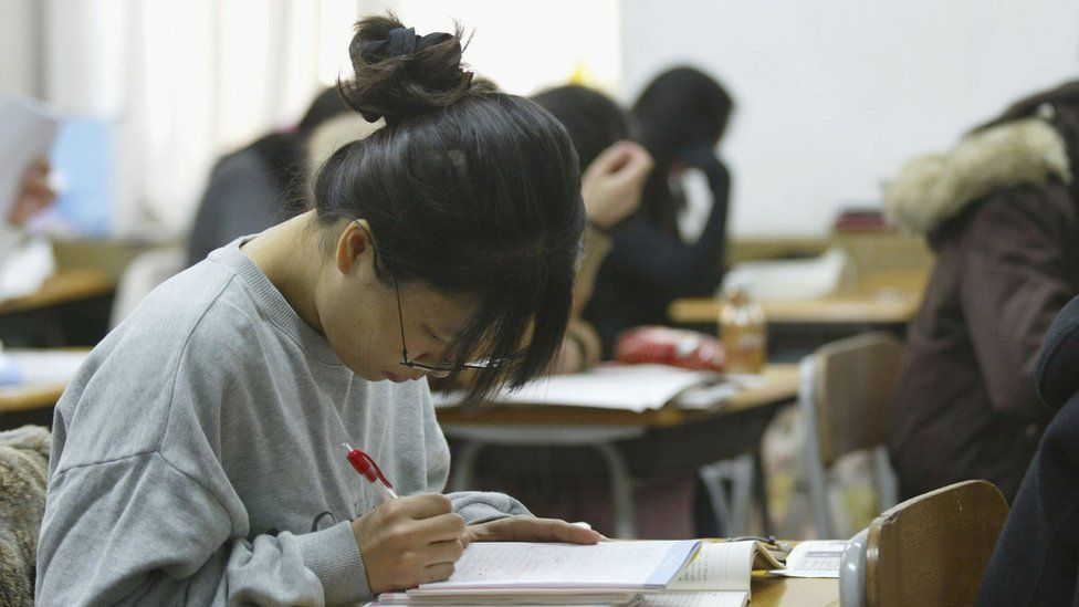 Suneung: The day silence falls over South Korea - BBC News