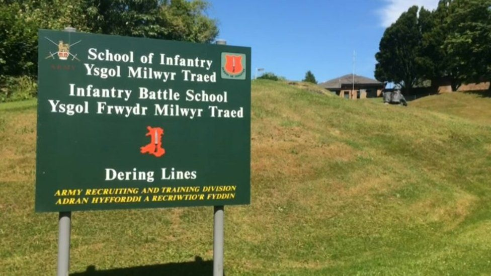Sign at Dering Lines School of Infantry