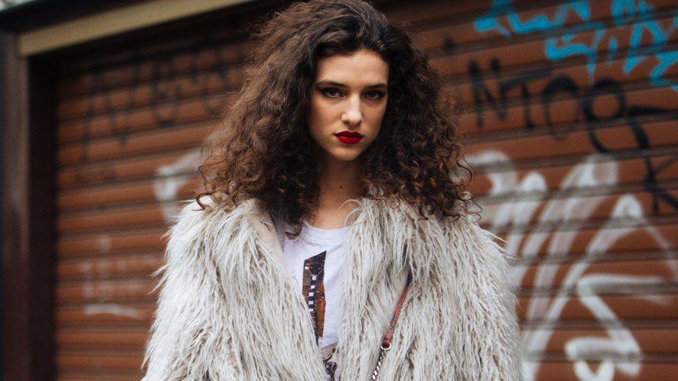A Stella McCartney faux fur coat