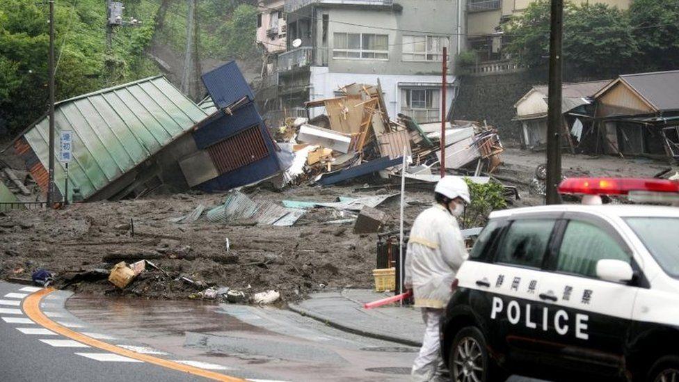 Mudslide in Atami city, Japan, 3 July 2021
