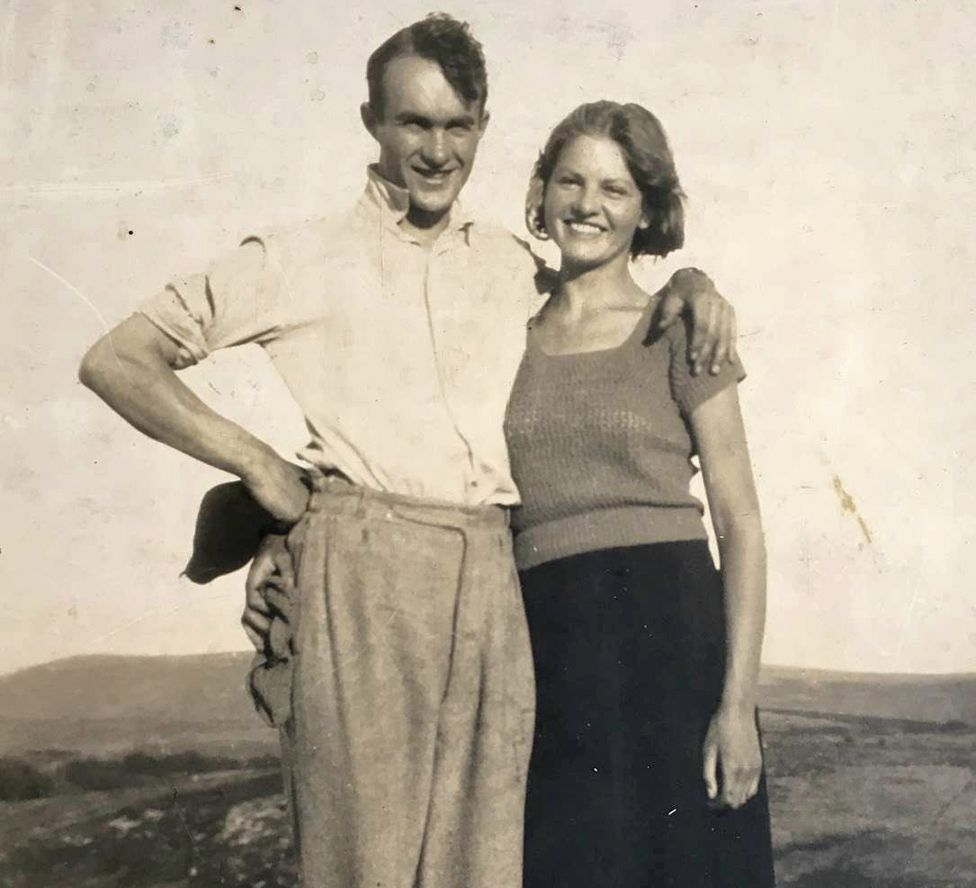 Guy with his wife Peggy